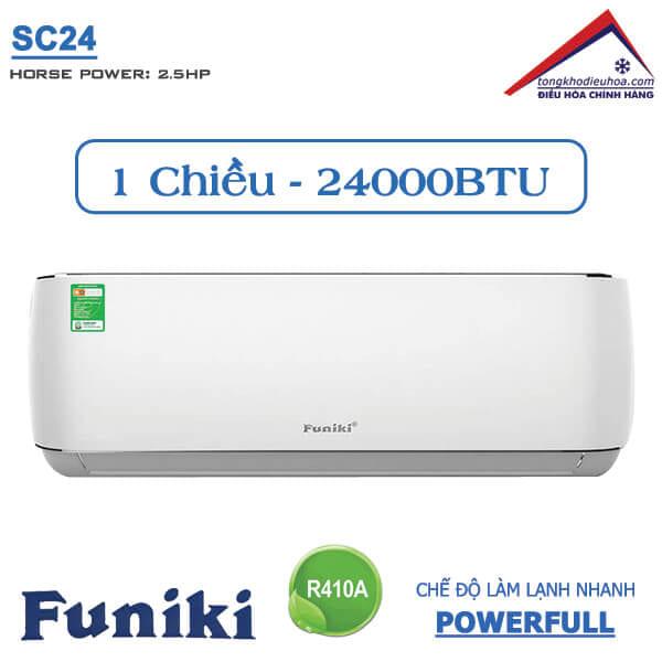 Điều hòa Funiki 1 chiều 24000btu SC24