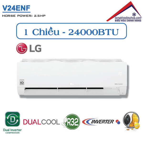 Điều hòa LG 1 chiều 24000BTU inverter V24ENF