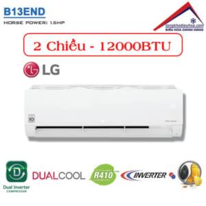 Điều hòa LG 2 chiều 12000BTU inverter B13END