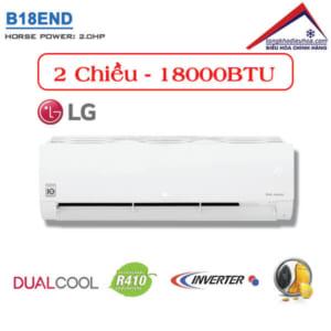 Điều hòa LG 2 chiều 18000BTU inverter B18END