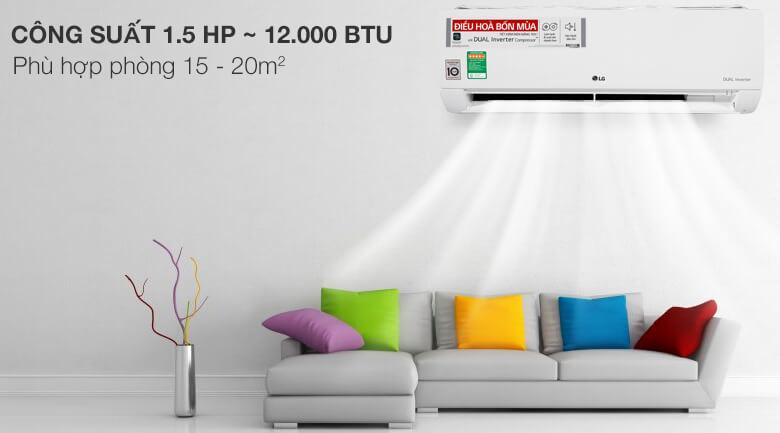Điều hòa LG inverter 2 chiều công suất 12.000BTU