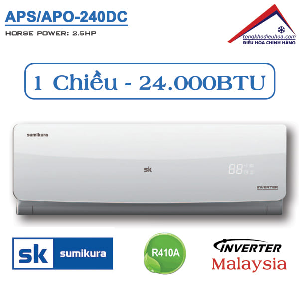 Điều hòa Sumikura 1 chiều 24.000BTU Inverter APS/APO-240DC