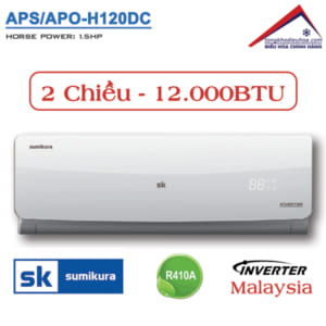 Điều hòa Sumikura 2 chiều 12.000BTU Inverter APS/APO-H120DC