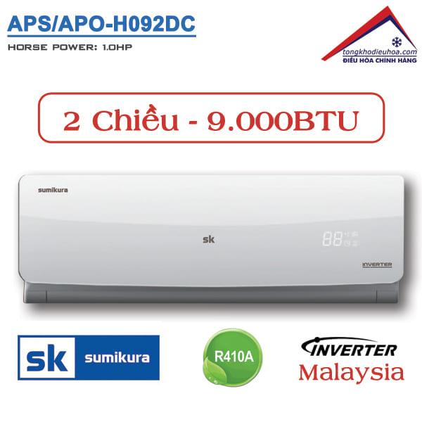 Điều hòa Sumikura 2 chiều 9.000BTU Inverter APS/APO-H092DC