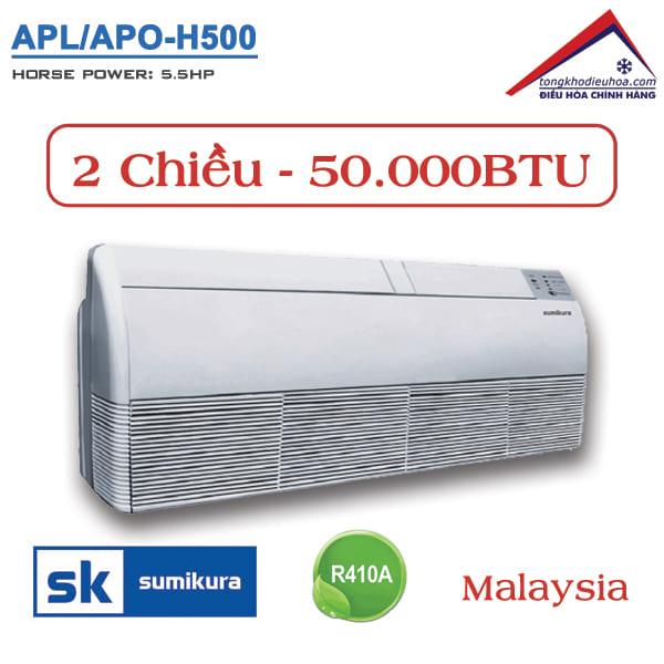 Điều hòa Sumikura áp trần 2 chiều 50.000BTU APL/APO-H500