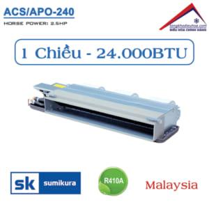 Điều hòa Sumikura nối ống gió 1 chiều 24.000BTU ACS/APO-240