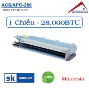 Điều hòa Sumikura nối ống gió 1 chiều 28.000BTU ACS/APO-280