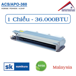 Điều hòa Sumikura nối ống gió 1 chiều 36.000BTU ACS/APO-360