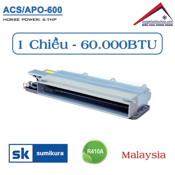 Điều hòa Sumikura nối ống gió 1 chiều 60.000BTU ACS/APO-600