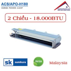 Điều hòa Sumikura nối ống gió 2 chiều 18.000BTU ACS/APO-H180