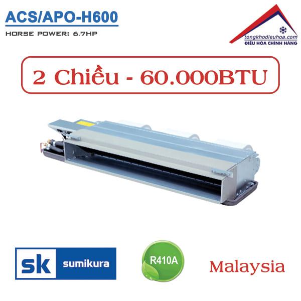 Điều hòa Sumikura nối ống gió 2 chiều 60.000BTU ACS/APO-H600