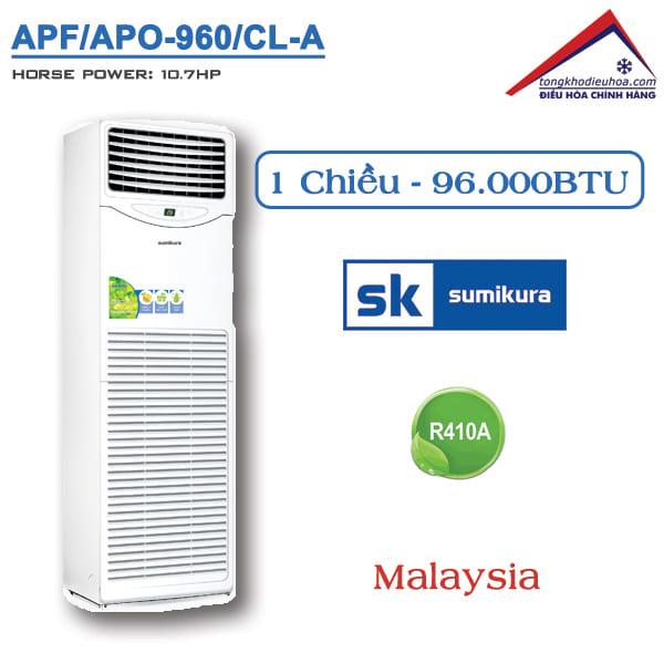 Điều hòa Sumikura tủ đứng 1 chiều 96000BTU APF/APO-960/CL-A