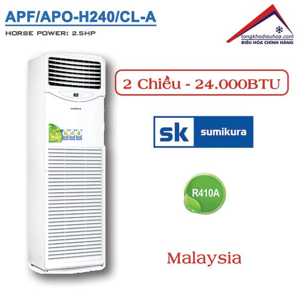 Điều hòa Sumikura tủ đứng 2 chiều 24000BTU APF/APO-H240/CL-A