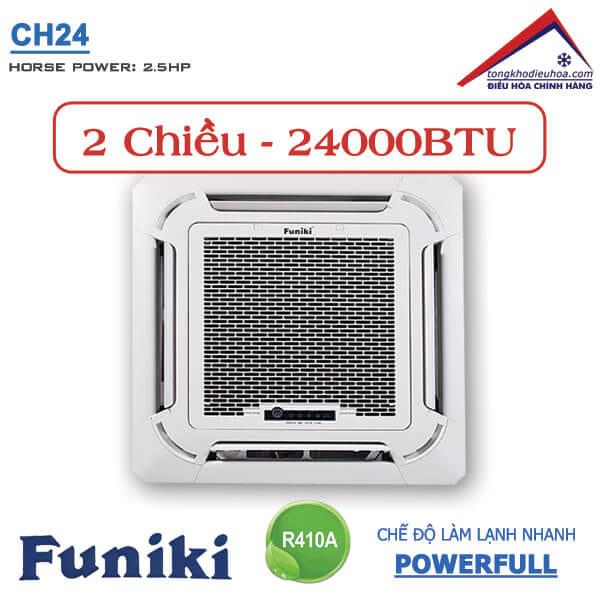 Điều hòa Funiki âm trần 2 chiều 24000btu CH24