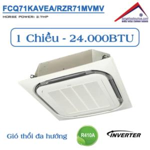 Điều hòa âm trần Daikin 1 chiều 24.000BTU Inverter FCQ71KAVEA/RZR71MVMV