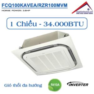 Điều hòa âm trần Daikin 1 chiều 34.000BTU Inverter FCQ100KAVEA/RZR100MVM