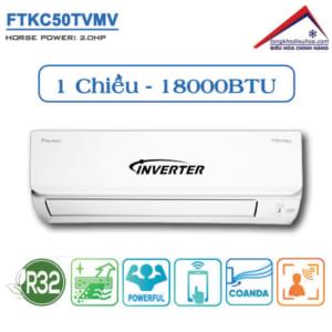 Điều hòa Daikin 1 chiều 18.000BTU Inverter FTKC50TVMV