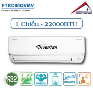 Điều hòa Daikin 1 chiều 22.000BTU Inverter FTKC60QVMV