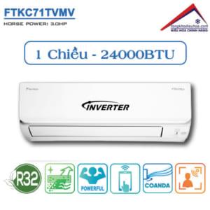 Điều hòa Daikin 1 chiều 24.000BTU Inverter FTKC71TVMV