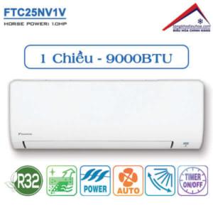 Điều hòa đaikin 1 chiều 9000btu FTC25NV1V