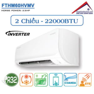 Điều hòa đaikin 2 chiều 22000btu inverter FTHM60HVMV