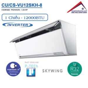 Điều hòa panasonic 1 chiều 12000btu inverter CU/CS-VU12SKH-8