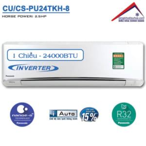 Điều hòa panasonic 1 chiều 24000btu inverter CU/CS-PU24TKH-8
