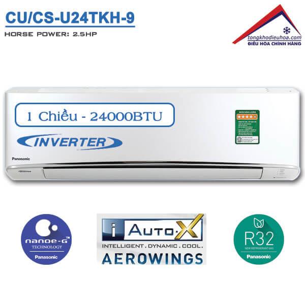 Điều hòa panasonic 1 chiều 24000btu inverter CU/CS-U24TKH-8