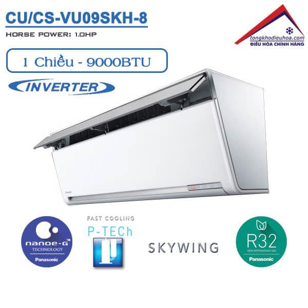Điều hòa panasonic 1 chiều 9000btu inverter CU/CS-VU09SKH-8
