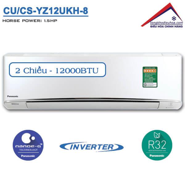 Điều hòa panasonic 2 chiều 12000btu inverter CU/CS-YZ12UKH-8