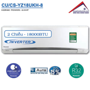 Điều hòa panasonic 2 chiều 18000btu inverter CU/CS-YZ18UKH-8