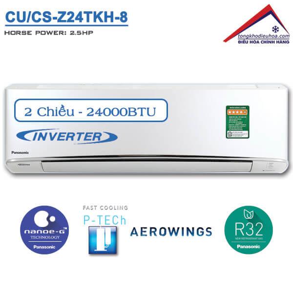 Điều hòa panasonic 2 chiều 24000btu inverter CU/CS-Z24TKH-8
