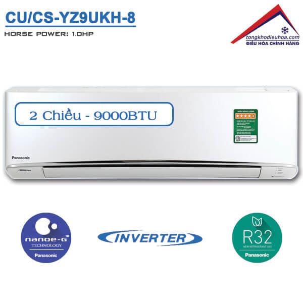 Điều hòa panasonic 2 chiều 9000btu inverter CU/CS-YZ9UKH-8