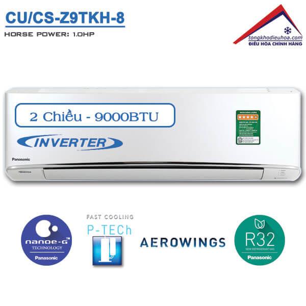 Điều hòa panasonic 2 chiều 9000btu inverter CUCS-Z9TKH-8