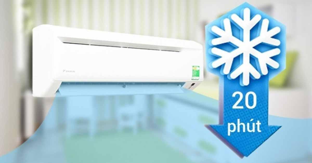 Chế độ làm lạnh nhanh điều hòa treo tường midea 1 chiều thường