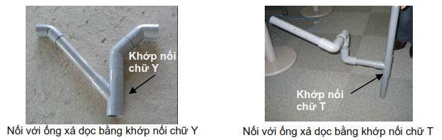 Nối ống xả chính vào ống xả dọc
