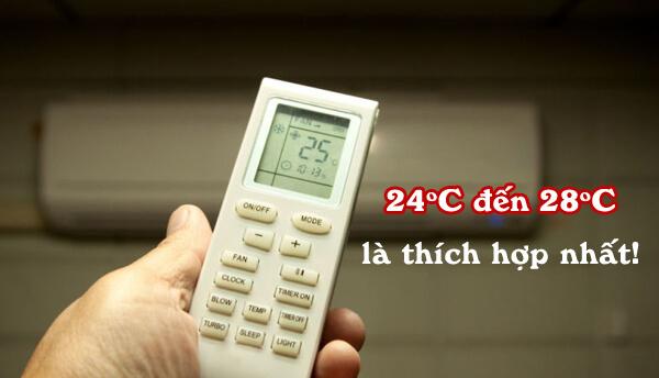 Cách sử dụng điều hòa tiết kiệm nhất là cài đặt nhiệt độ từ 24-28 độ C