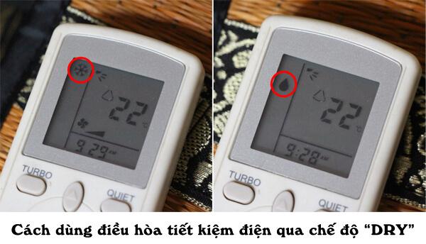 Cách sử dụng điều hòa tiết kiệm điện nhờ chế độ Dry