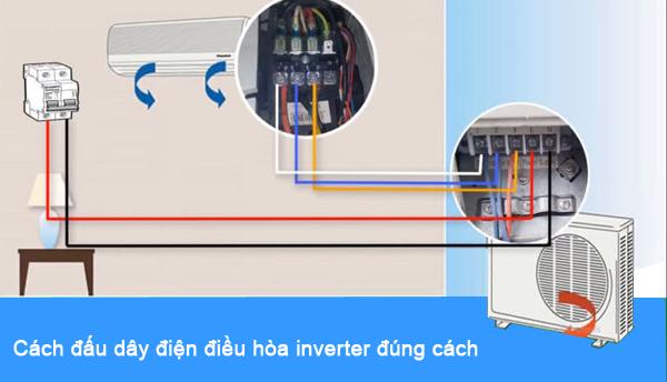 cách đấu dây điện điều hòa inverter