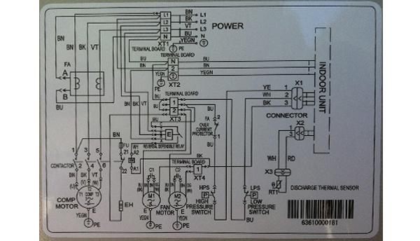 sơ đồ đấu điện điều hòa inverter 1