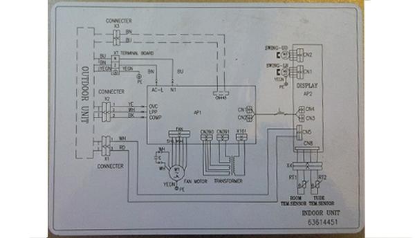 sơ đồ đấu điện điều hòa inverter 2