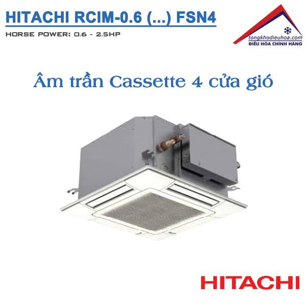 dàn lạnh âm trần Cassette Hitachi VRF Model FSN4