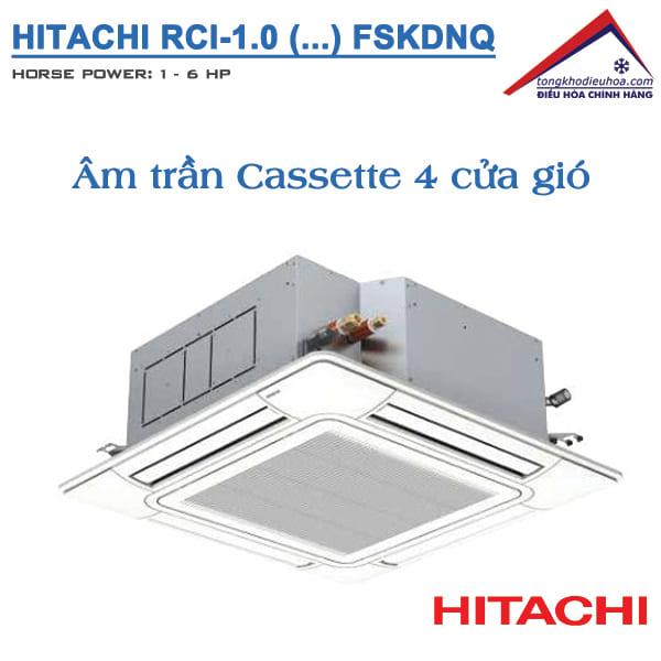 Dàn lạnh điều hòa trung tâm Hitachi kiểu âm trần Casette