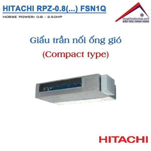 Dàn lạnh Giấu trần nối ống gió (FSN1Q – COMPACT) | VRF Hitachi