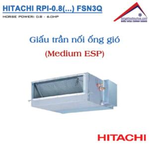 Dàn lạnh Giấu trần nối ống gió (Medium ESP) | VRF Hitachi