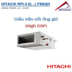Dàn lạnh giấu trần nối ống gió áp suất cao VRF Hitachi