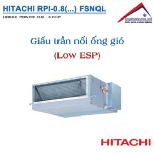 Dàn lạnh Giấu trần nối ống gió (LOW ESP) | VRF Hitachi