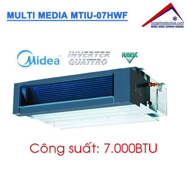 Dàn lạnh giấu trần nối ống gió điều hòa Multi Media MTIU-07HWF