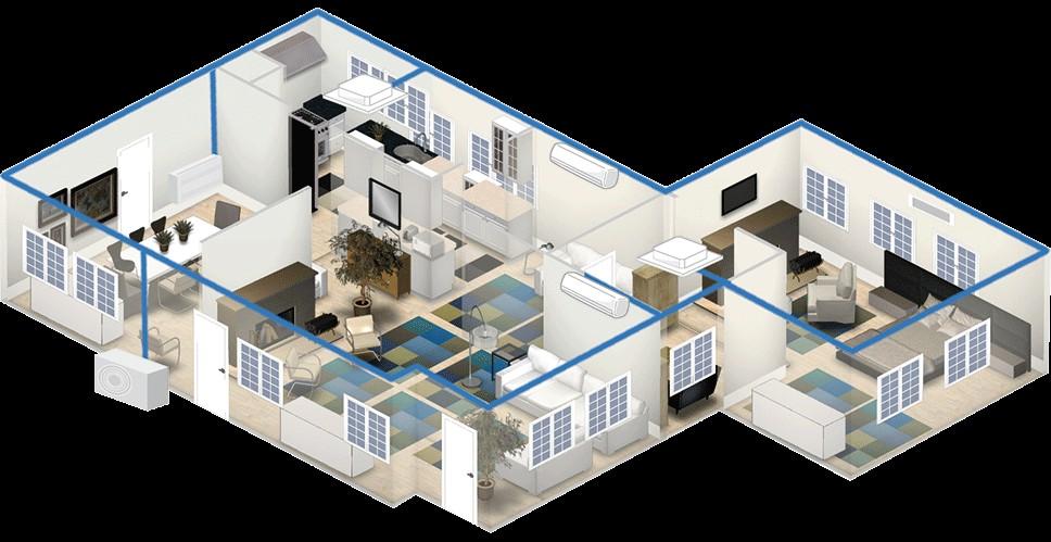 thiết kế điều hòa cho nhà