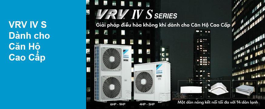 Điều hòa Daikin VRV IV-S phù hợp với những căn hộ có diện tích lớn